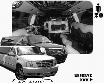 Cadillac Escalade 20 passenger SUV Limousine for rental in Tulsa, OK