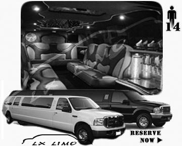 Lincoln Excursion SUV Limo for hire in Tulsa, OK