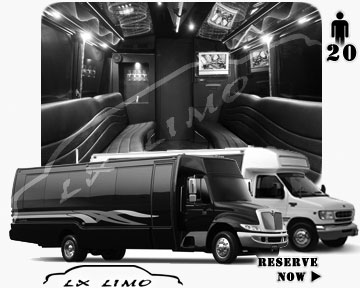 Party Bus rental in Tulsa | Tulsa LIMOBUS 20 passengers